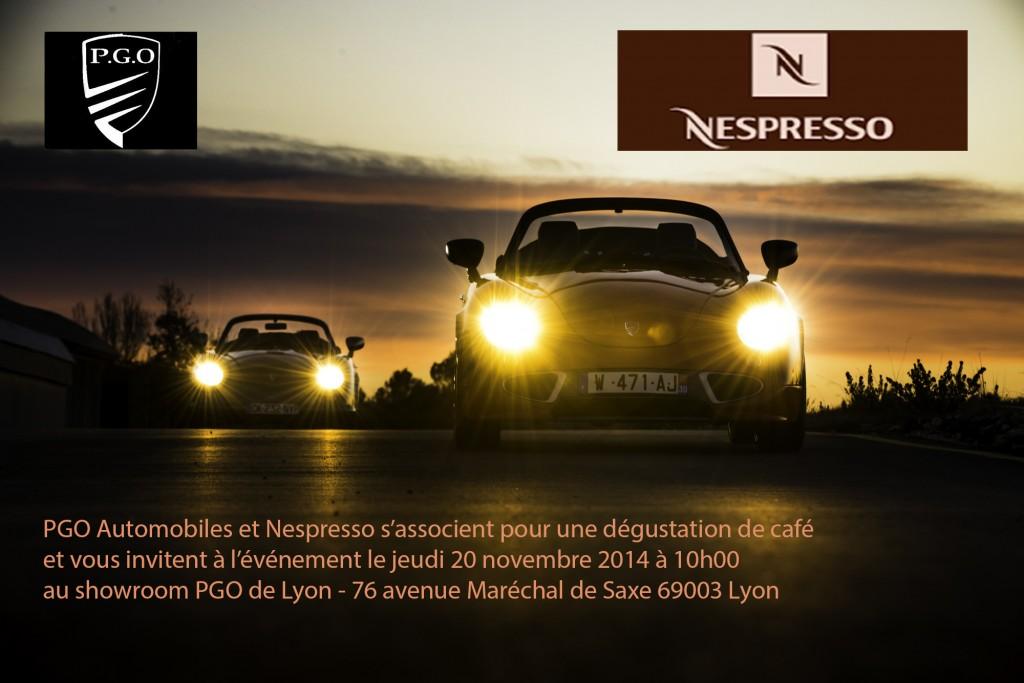 plaquette invitation Nespresso pgo
